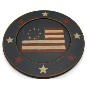 BR Noble Country Rustic Decorative Candle Plate
